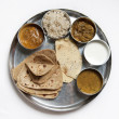 Thali Traditional Indian Meal - Stock Photo
