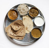 Thali Traditional Indian Meal — Stock Photo
