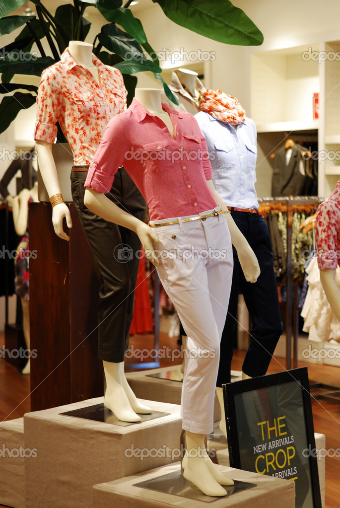Shopping in a causal retail clothing store  Stock Photo #5650726
