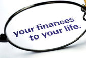 Focus on and take control of the personal finances — Stock Photo