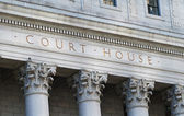 The words Court House outside the Supreme Court — Stok fotoğraf