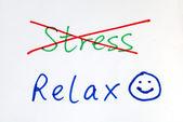 Daha fazla stres, bazı mutlu bir gülümseme ile rahat olsun — Stok fotoğraf