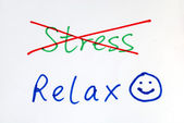No more Stress, get some relax with a happy smile — Stock Photo