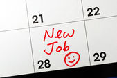 Mark the calendar to go to a new job — Stock Photo