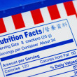 Nutrient Facts of a box of cookies concepts of health diet - Stock Photo