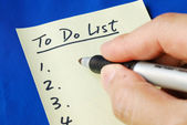 Prepare the To Do List for the day concepts of planning ahead — Stock Photo
