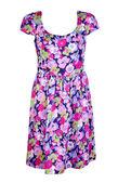 Kolorowe kobieta sukienka — Zdjęcie stockowe