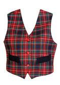 Red plaid vest — Stock Photo