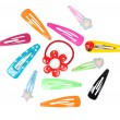 Colored hairpins — Stock Photo