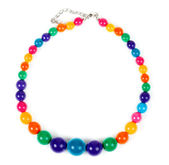 Colored plastic beads — Stock Photo