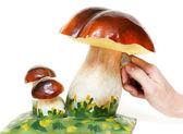 Salvadanaio fungo decorativo — Foto Stock