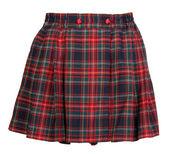 Plaid red feminine skirt — Stock Photo