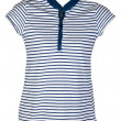 Stock Photo: Women's casual wear blue stripes