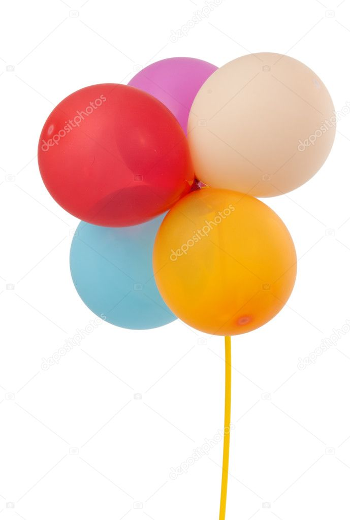 Colored balloons isolated on a white background  Stock Photo #5718515