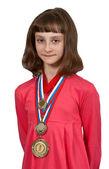 Girl winner — Stock Photo