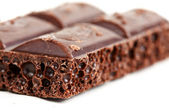 Porous dark chocolate — Stock Photo