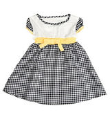 Children's checkered dress — Stockfoto