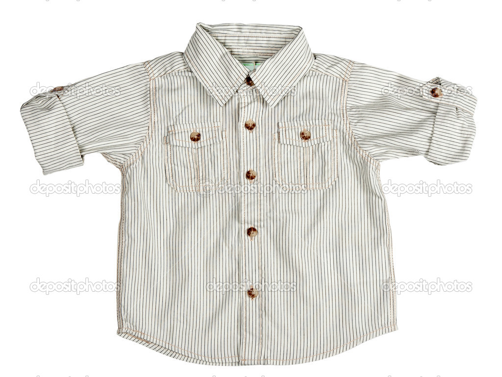 Children's beige shirt isolated on white background — Stock Photo #5763454