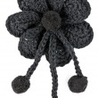 Royalty-Free Stock Photo: Black knitted fabric flower