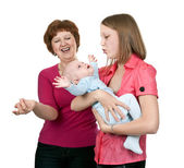Grandmother and mother baby — Stock Photo