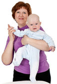 Grandmother with a baby — Stock Photo