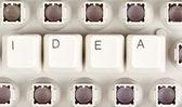 Palabra de la idea del teclado — Foto de Stock