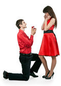 Man gives the woman a ring — Stock Photo