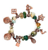 Bracelet with stones and chain — Stock Photo