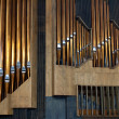 Royalty-Free Stock Photo: Copper pipe organ music tool to be