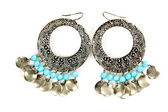 Pair of beautiful earrings — Stock Photo