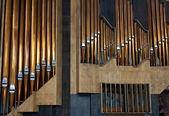 Copper pipe organ music tool to be — Stock Photo