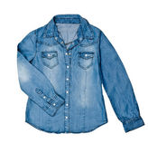 Blå jean skjorta — Stockfoto