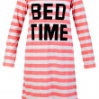 Length striped nightshirt — Stok fotoğraf