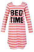 Length striped nightshirt — Stock Photo