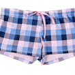 Stock Photo: Plaid shorts blue