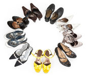 Stylish women's shoes are round — Stock Photo