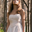 Girl in a dress in a forest — Stock Photo #6447788