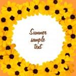 Decorative sunflower greeting card — Stock Photo