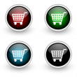 Shopping colored button set — Stock Photo #5808147