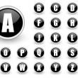 Alphabet black button set — Stock Photo #5808158