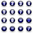 Royalty-Free Stock Photo: Numbers blue button set