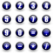 Numbers blue button set — Stock Photo #5808170