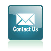 Contact us glosssy icon — Stock Photo