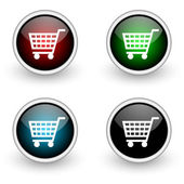 Shopping colored button set — Stock Photo