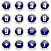 Numbers blue button set — Stock Photo