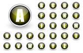 Alfabet gele knop set — Stockfoto