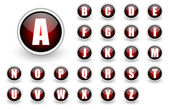 Alphabet rote taste eingestellt — Stockfoto