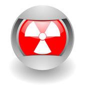 原子力の鋼 glosssy のアイコン — ストック写真