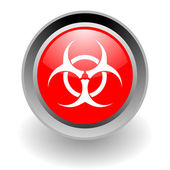 Biohazard steel glosssy icon — Stock Photo