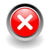 Cancel steel glosssy icon — Stock Photo